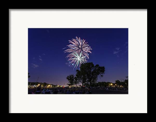 Cj Schmit Framed Print featuring the photograph Spark And Bang by CJ Schmit