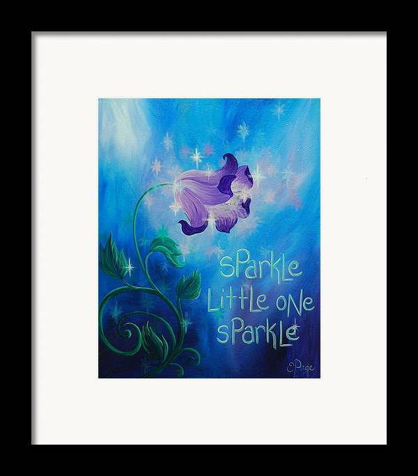Twinkle Framed Print featuring the painting Sparkle, Little One by Emily Page