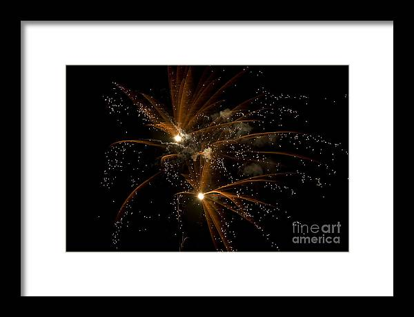Fireworks Framed Print featuring the photograph Sparkles by Jeannie Burleson