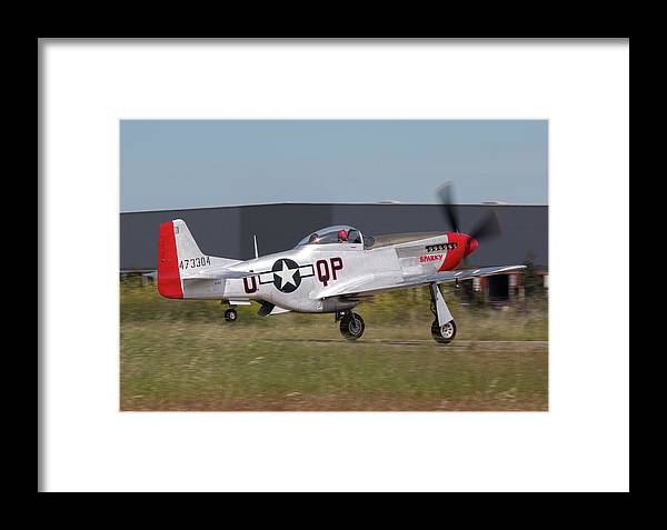 Sparky Framed Print featuring the photograph Sparky Takeoff by David Horn