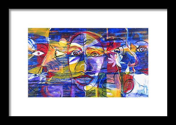 Love Framed Print featuring the painting Speak To Me Baby... by Rollin Kocsis
