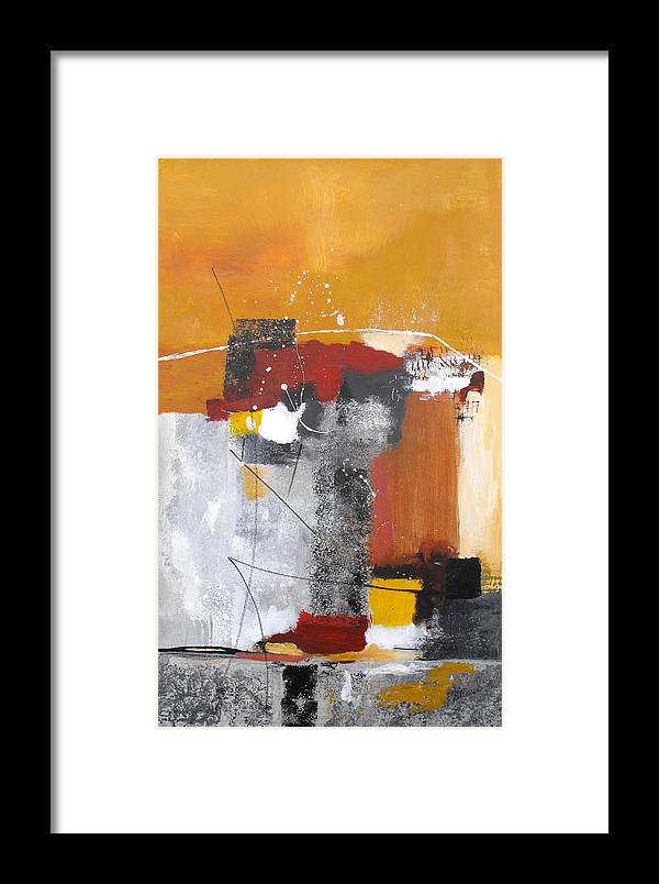 Abstract Framed Print featuring the painting Special Circumstances by Ruth Palmer
