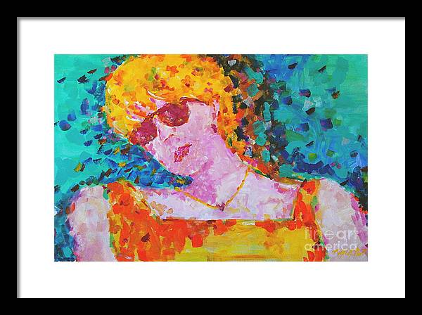 Portraiture Framed Print featuring the painting Special Day by Art Mantia