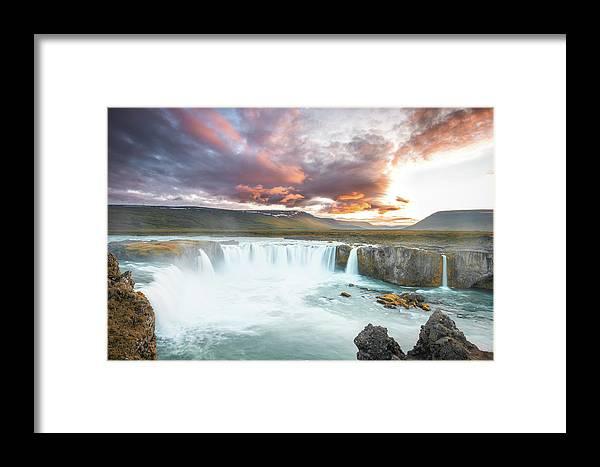 Landscape Framed Print featuring the photograph Spectacular Godafoss by Siddhartha De