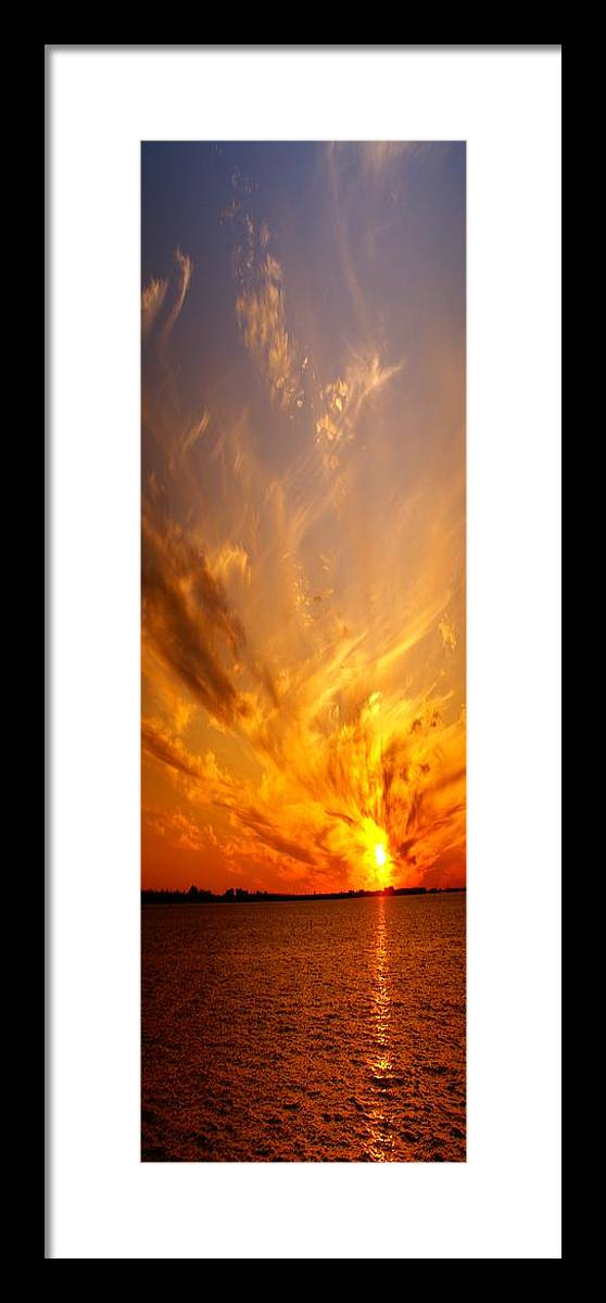 Tropical Framed Print featuring the photograph Spectacular Sunset by Florene Welebny