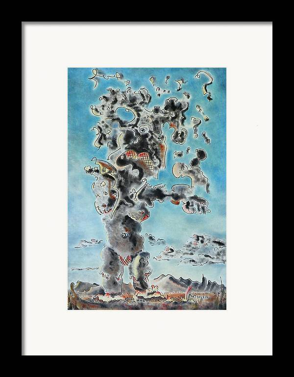Surreal Framed Print featuring the painting Spectre by Dave Martsolf