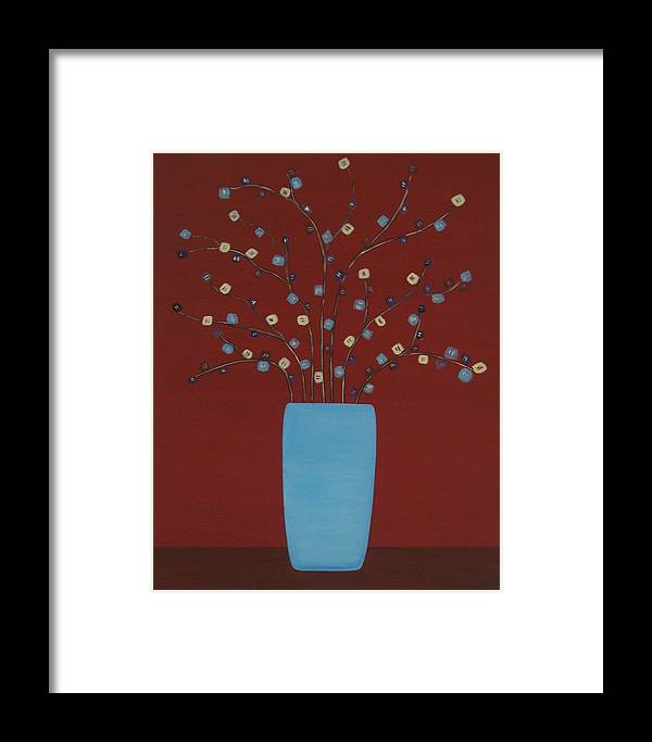Floral Framed Print featuring the painting Spectrum Of Foliage by Sandy Bostelman