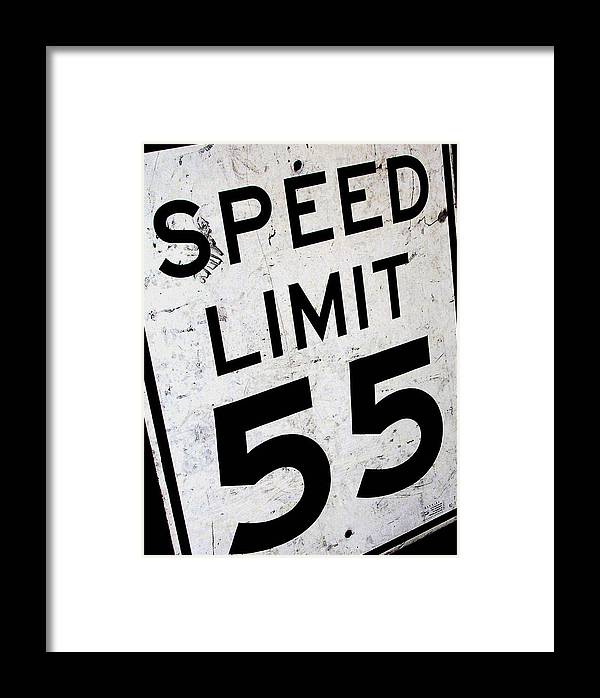 Car Framed Print featuring the photograph Speed Limit by Audrey Venute