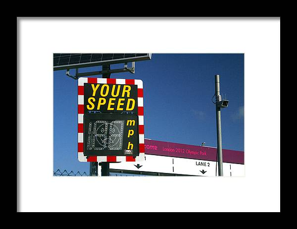 Jez C Self Framed Print featuring the photograph Speed Up by Jez C Self