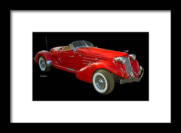 Auburn Speedster Framed Print featuring the photograph Speedster 2 by Larry Linton