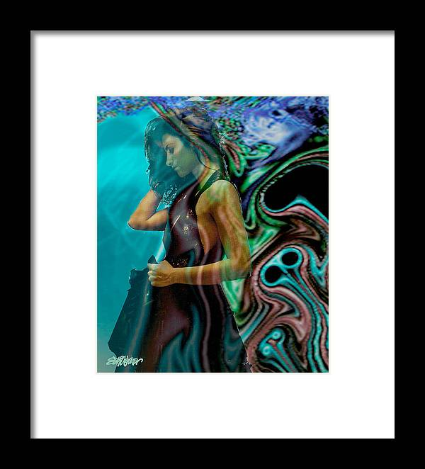 Beautiful Women Framed Print featuring the digital art Spell Of A Woman by Seth Weaver