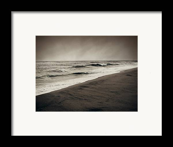 Ocean Framed Print featuring the photograph Spending My Days Escaping Memories by Dana DiPasquale
