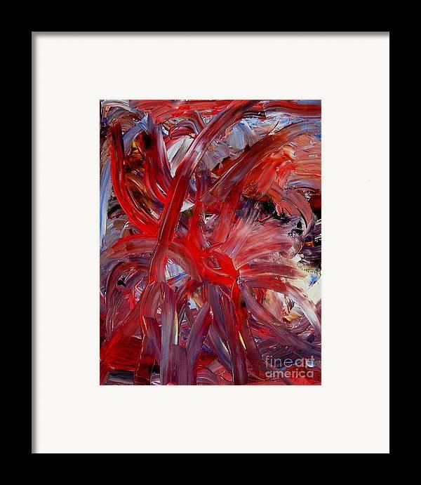 Eye Framed Print featuring the painting Speyedr by Karen L Christophersen