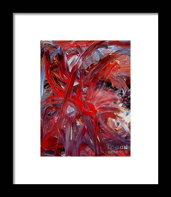 Eye Framed Print featuring the painting Speyedr by Karen L Christophersen