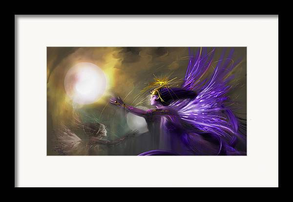 Fairies Framed Print featuring the digital art Sphere Makers Of Emergging Consciousness by Stephen Lucas