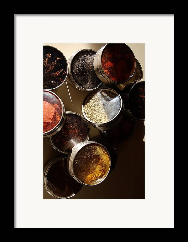 Photography Framed Print featuring the photograph Spices by Heather S Huston