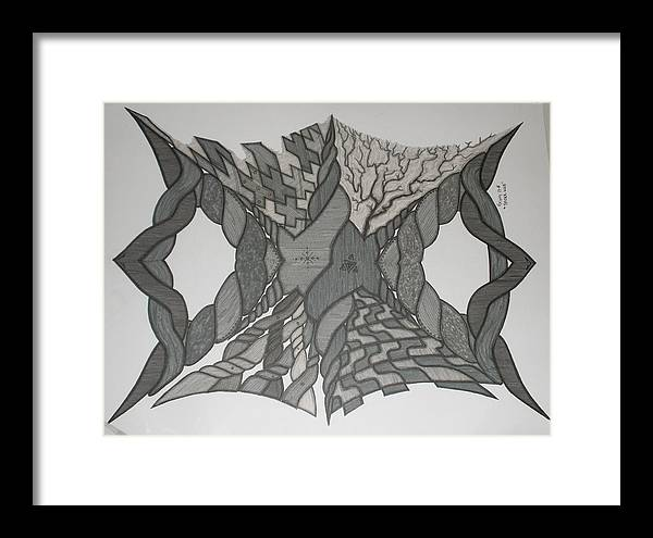Abstract Framed Print featuring the painting Spiderweb by Scott King