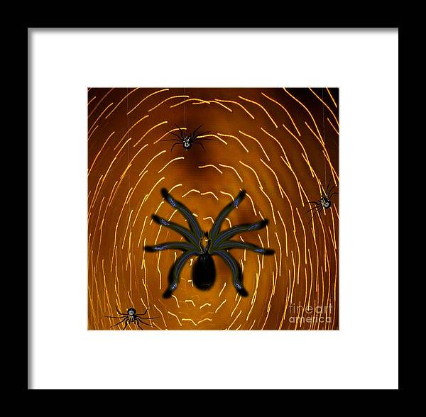 Insects Framed Print featuring the painting Spin A Mighty Web by Belinda Threeths