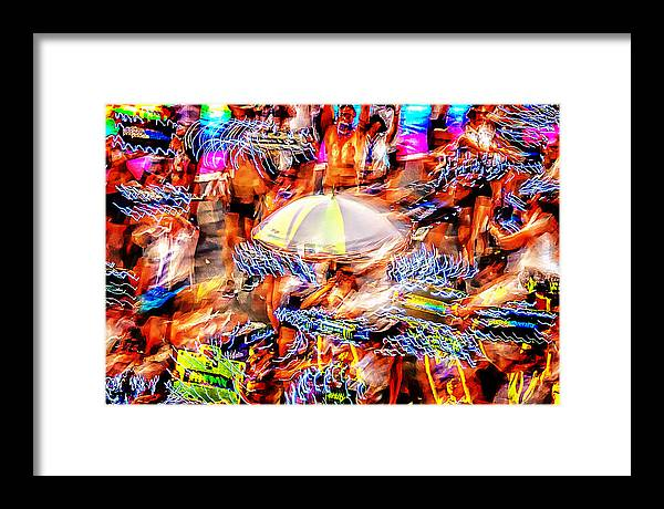 Abstract Photography Framed Print featuring the photograph Prance Party by Az Jackson