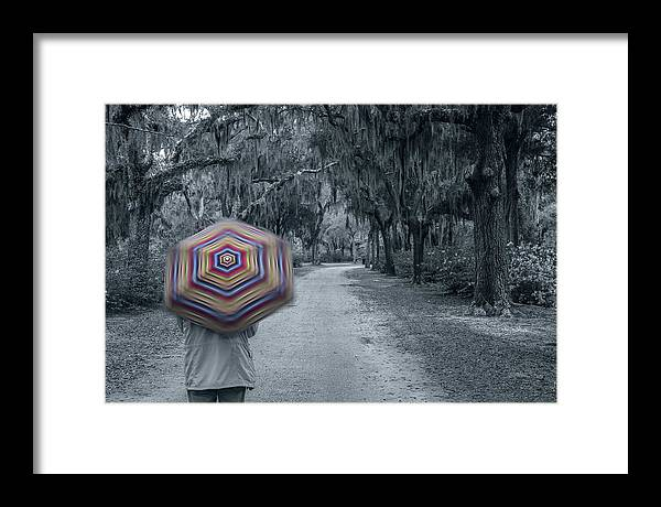 Framed Print featuring the photograph Spinning Colors by Paul Green