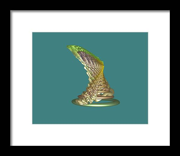 Fractal Framed Print featuring the digital art Spinning Hat by Frederic Durville