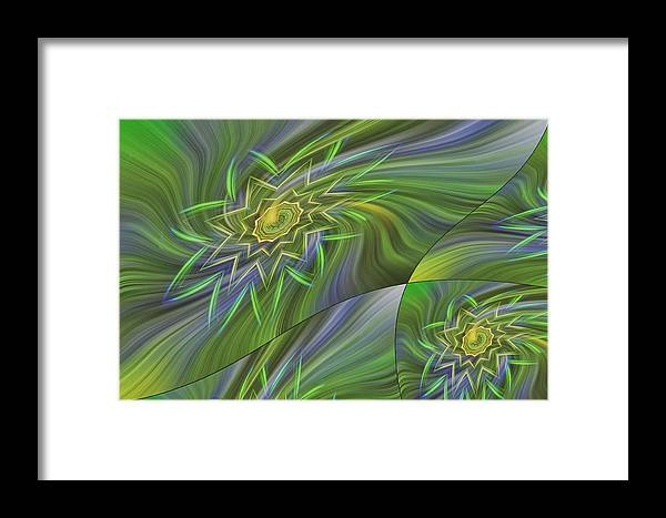 Abstract Framed Print featuring the photograph Spinning Star Tiles by Linda Phelps