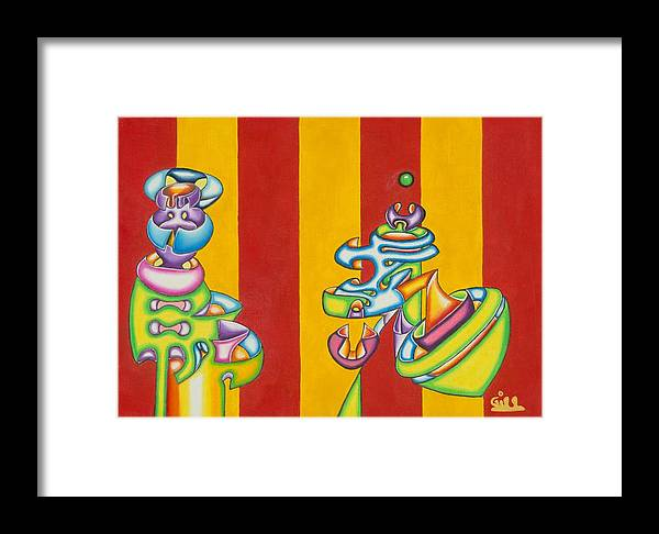 Fantasy Framed Print featuring the painting Spinning Top by      Gillustrator