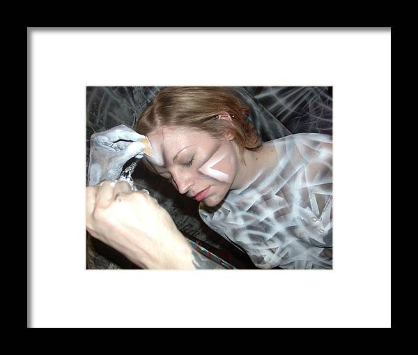 Body Paint Framed Print featuring the painting Spiral 1 by Leigh Odom