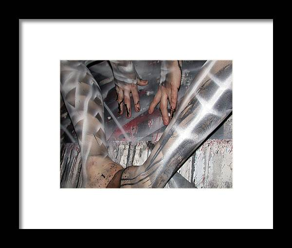 Blue Framed Print featuring the painting Spiral 4 by Leigh Odom
