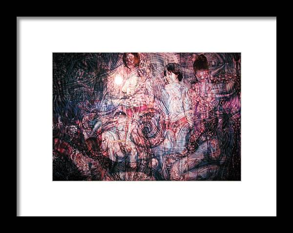 Paint Framed Print featuring the painting Spiral Circuitry by Leigh Odom