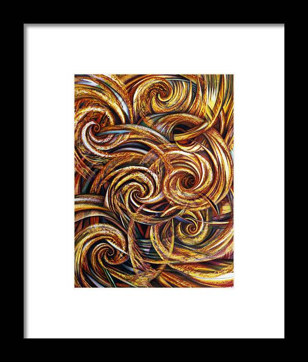 Spiritual Framed Print featuring the painting Spiral Journey by Nad Wolinska