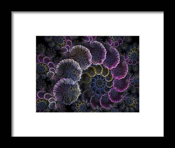 Fractal Framed Print featuring the digital art Spiral Of Fay by Amorina Ashton