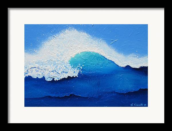 Contemporary Framed Print featuring the painting Spiral Wave by Jaison Cianelli