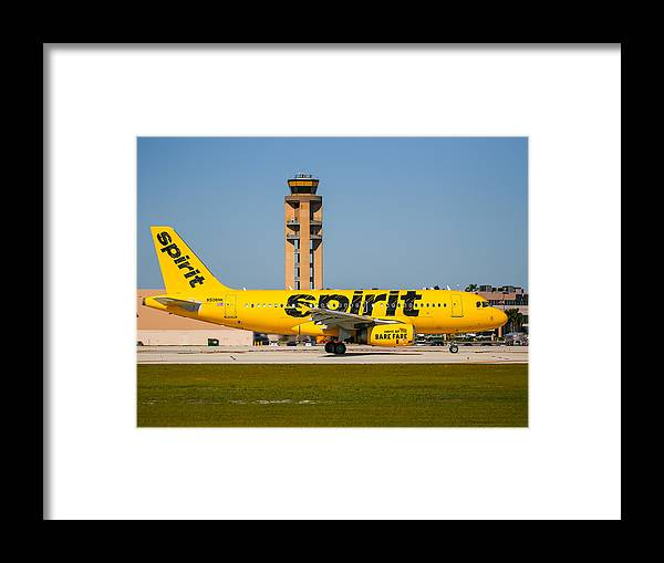 Airplane Framed Print featuring the photograph Spirit Airline by Dart and Suze Humeston