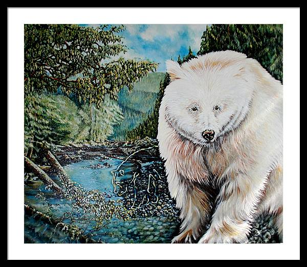 Spirit Bear Framed Print featuring the painting Spirit Bear by Susan Moore