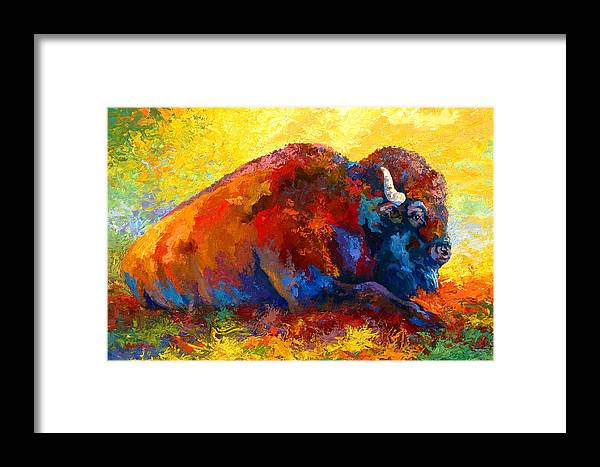 Wildlife Framed Print featuring the painting Spirit Brother by Marion Rose