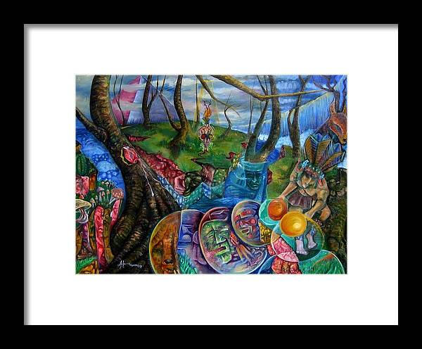 Paintings Framed Print featuring the painting Spirit Dance by Horacio Montes