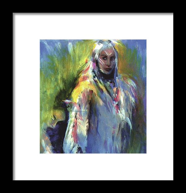 Native American Framed Print featuring the painting Spirit Guide by Elizabeth Silk