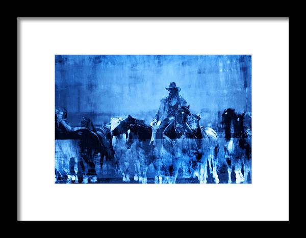 Fine Art Framed Print featuring the photograph Spirit Herd by Nick Sokoloff