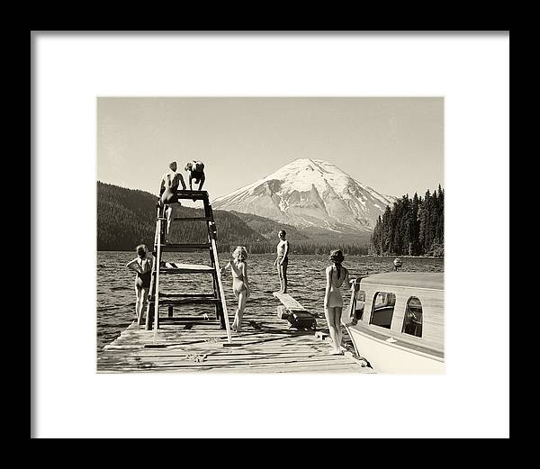 Framed Print featuring the photograph Spirit Lake by Ray Atkinsen