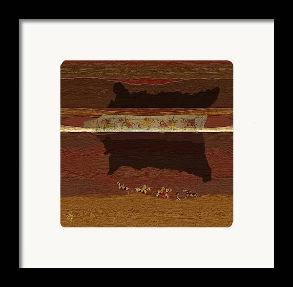 Buffalo Robe � Plains Indians. Framed Print featuring the digital art Spirit Of '76...1876 by John Helgeson