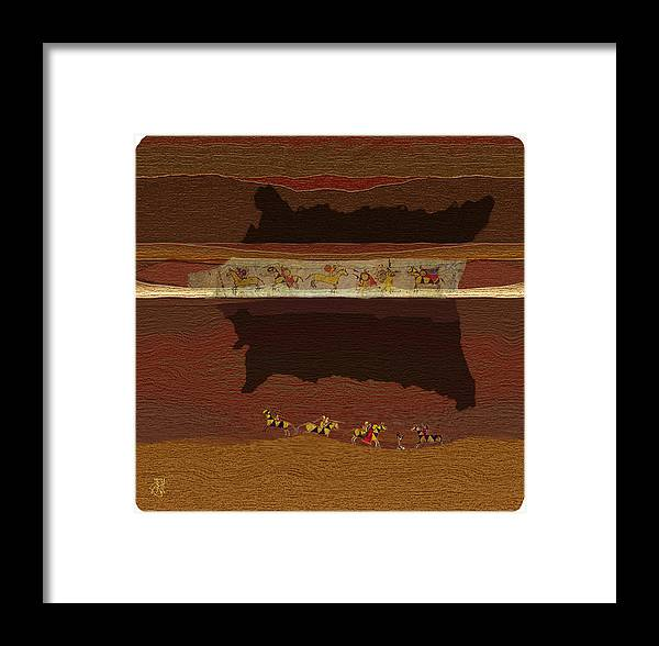 Buffalo Robe � Plains Indians. Framed Print featuring the digital art Spirit Of '76...1876 by John Helgeson