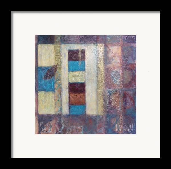 Spiritual Framed Print featuring the painting Spirit Of Gold - States Of Being by Kerryn Madsen- Pietsch