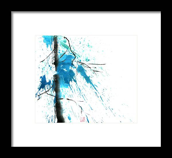Strong Framed Print featuring the painting Spirit Of Pine I by Mui-Joo Wee