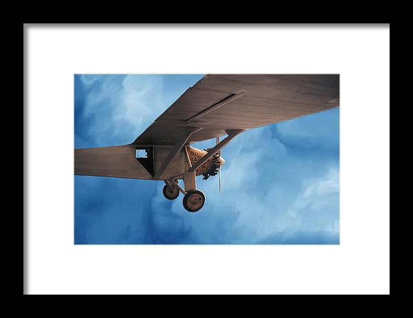 Sky Flight Plane spirit Of Saint Louis Adventure Imagination Dream Framed Print featuring the photograph Spirit Of Saint Louis Flys Again by Lawrence Costales