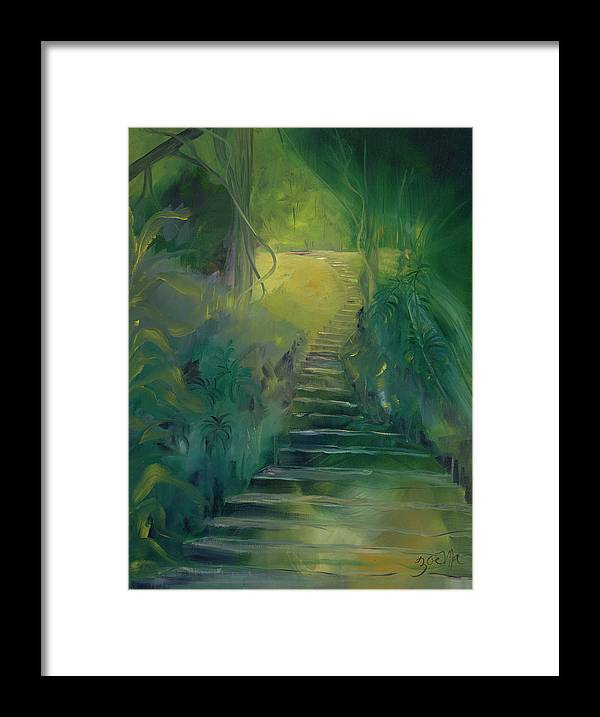 Forest Framed Print featuring the painting Spirit Of The Amazon by Zoe Landria