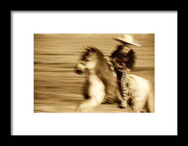 Equine; Horses; Charro Framed Print featuring the photograph Spirit Of The Charro3 by Nick Sokoloff