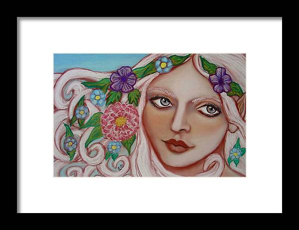 Faerie Framed Print featuring the painting Spirit Of The East Wind by Tammy Mae Moon