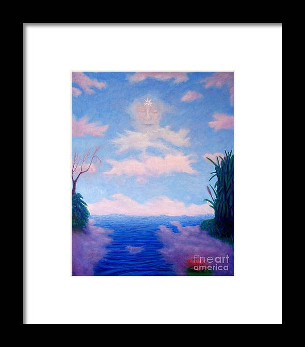 Buddha Framed Print featuring the painting Spirit Of The Lake by Brian Commerford