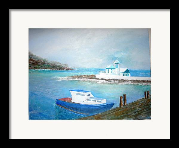 Seascape Framed Print featuring the painting Spirit Of The Sea by Jack Hampton
